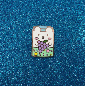 Grape Soda Can Hard Enamel Pin - Bashful Bear Kawaii Drinks series