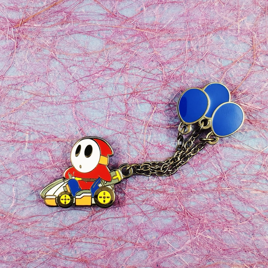Shy Guy Balloon Battle Mode Pin with Chain