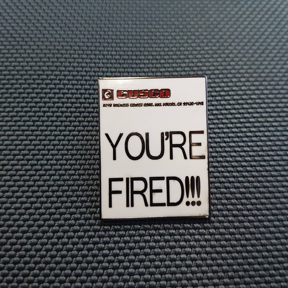 You're Fired Marty McFly Back To The Future Hard Enamel Pin