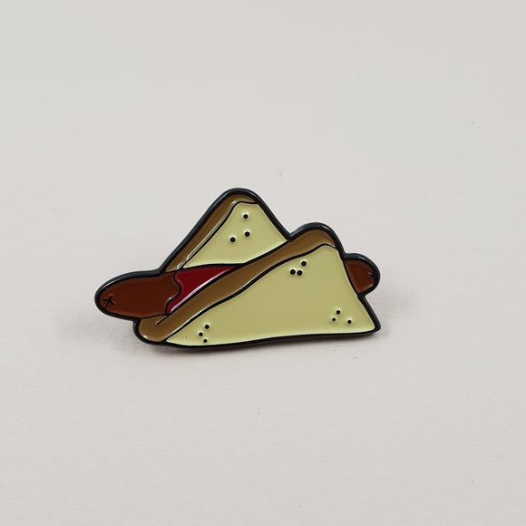 Democracy Sausage/Sausage Sandwich Soft Enamel Pin