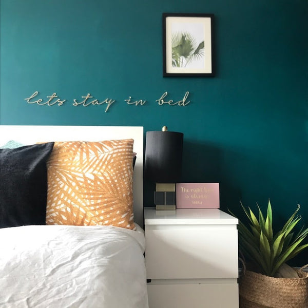 lets stay in bed - Bedroom wall art