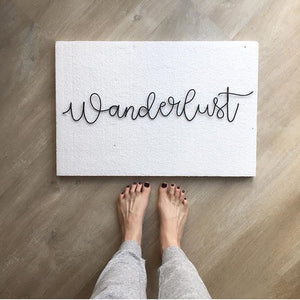 Wanderlust - Wire wall words - gallery wall decor
