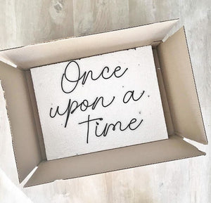 'Once upon a time' - Wire wall words - bedroom wall decor