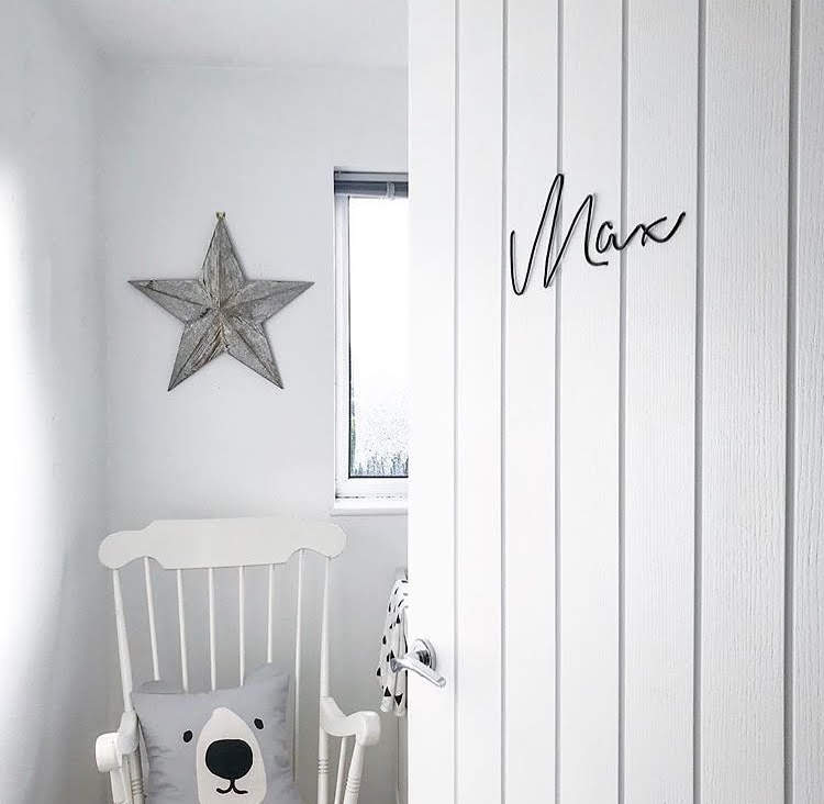 Baby / Childrens Name Sign - Bedroom Wall Art