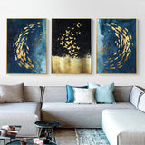 Golden Fishies Wall Art Collection