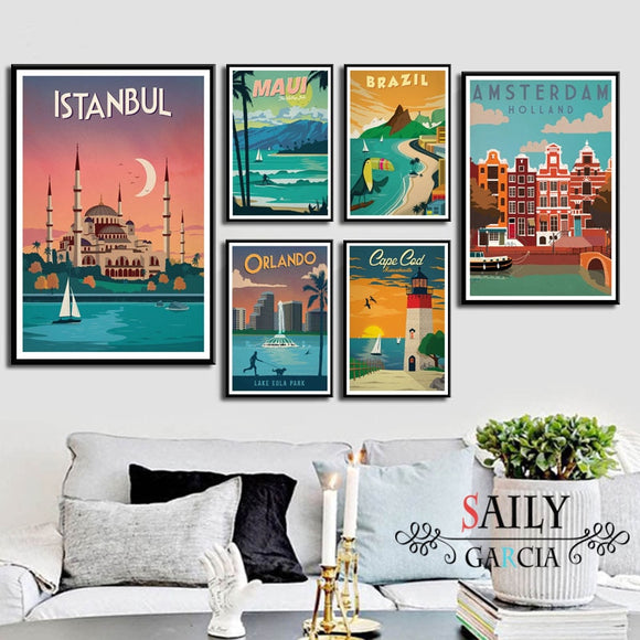 Travel Now Wall Art Collection