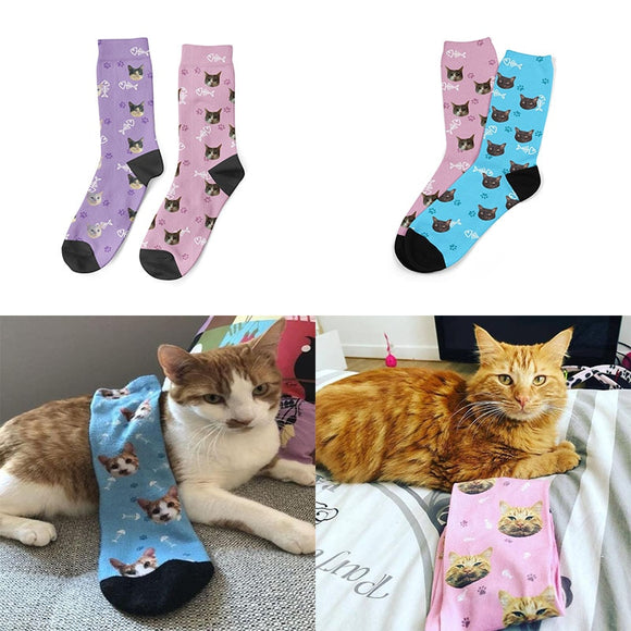 I Love My Cat Custom Socks