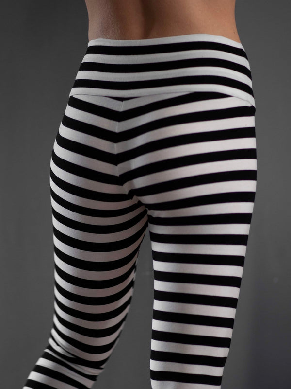 Comfy Copenhagen ApS Pleasing Leggings Black / White Stripe