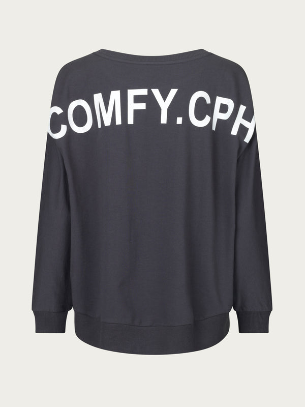 Comfy Copenhagen ApS Never Too Late Blouse Asphalt
