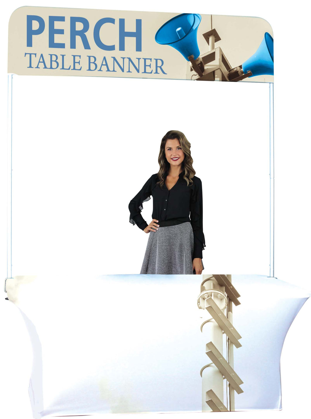 8ft Table Wide Pole Banner