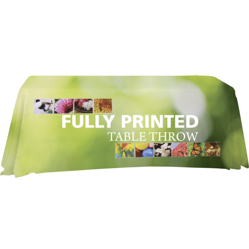 Fully Printed Table Throw-Table Throw-Element Display