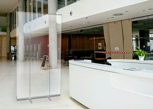 "47"" Wide Retractable Clear Plastic Wall"