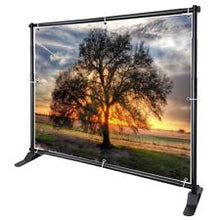 Load image into Gallery viewer, Deluxe Telescopic Banner Stand (up to 8ft x 10ft)