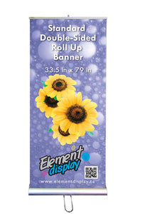 Standard Double-Sided Roll Up Banner with Floral design
