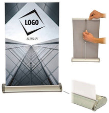 Load image into Gallery viewer, A3 Tabletop Roll Up Banner