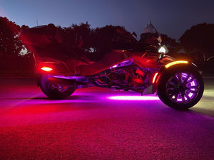 Center Frame Dual Strip LED in Waterproof casing Fitment: All Spyder Models