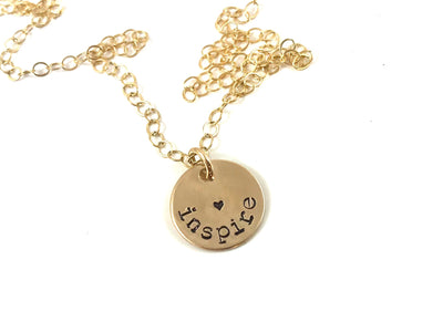 Personalized Dainty Disc Necklace | Sterling Silver, Gold Filled, Rose Gold