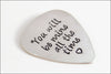 Custom Silver Guitar Pick | Gift for Music Lover, Custom Name Guitar Pick, Gift Ideas for Musician, Gifts for Guitar Player