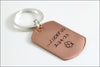 Custom Wedding Date Key Chain | Lucky Us Copper Keychain, Special Gift for Husband, Anniversary Gift for Husband, Custom Gifts for Him