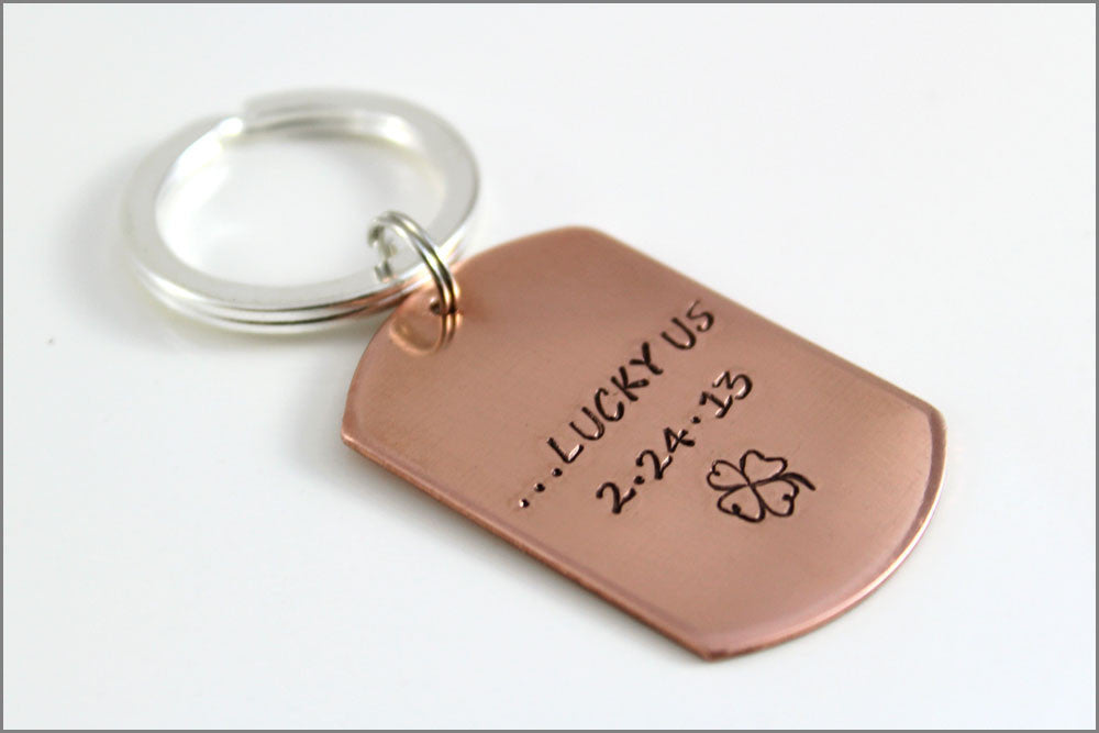 Custom Wedding Date Key Chain  884247f0c784