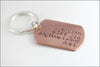 Custom Engagement Gift | Anniversary Date Keychain, Couples Initials Key Ring, So I Can Kiss You Anytime I Want, Gift for Groom