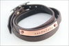 Personalized Last Name Leather Wrap Bracelet | Custom Wedding Gift