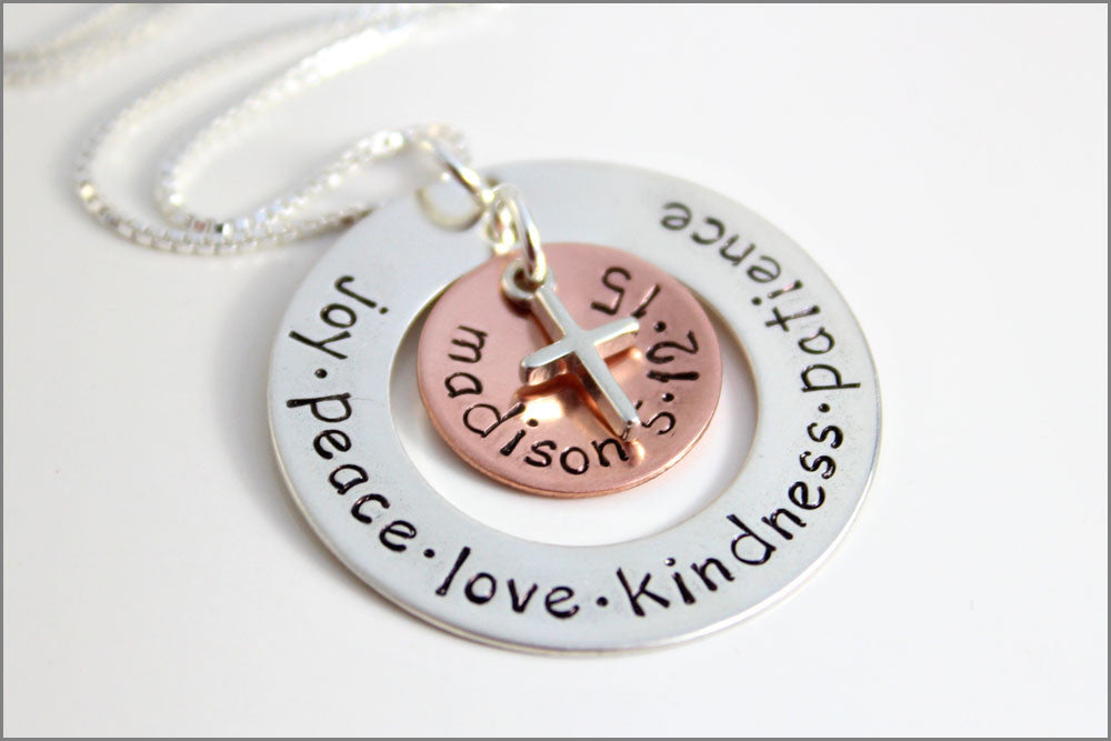 Personalized Confirmation Necklace | Custom Name + Date of Confirmation