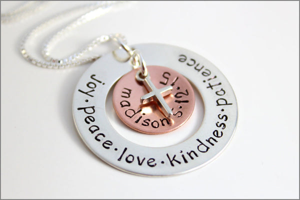 Personalized Confirmation Necklace | Custom Name + Date of Confirmation, Sterling Silver Cross, Religious Gifts for Her