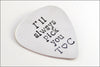 Customized Guitar Pick | I'll Always Pick You, Couples Initials, Sterling Silver Guitar Pick, Gifts for Music Lover