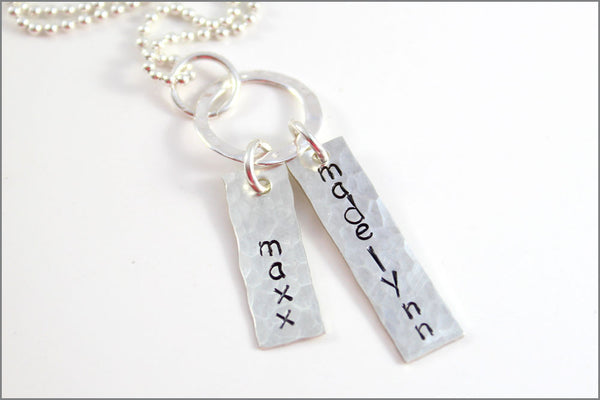 2 Tag Personalized Necklace | Sterling Silver Name Necklace | Custom-Made Jewelry