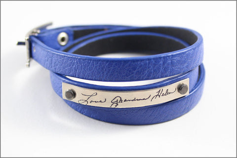 Custom Handwriting Bracelet with Your Handwriting | Signature Jewelry