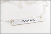 Personalized Bar Name Necklace | Sterling Silver, Gold Filled, Rose Gold