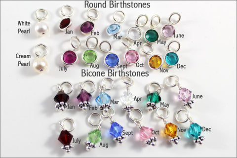 Birthstone or Pearl Add On | Round or Bicone, Add On to Necklace or Bracelet, Birthstone Jewelry