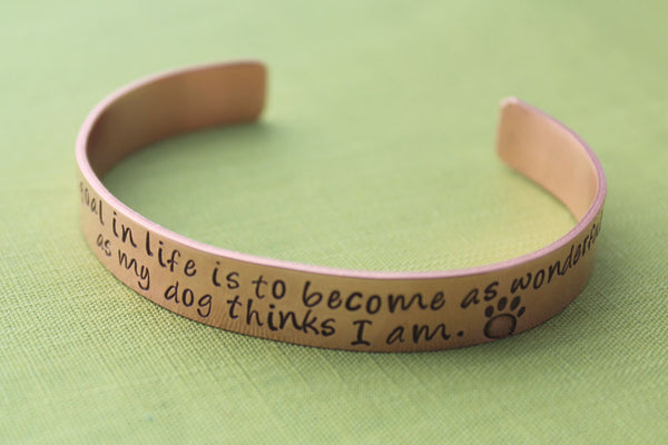 Custom Quote Copper Bracelet | Hand Stamped Pet Jewelry