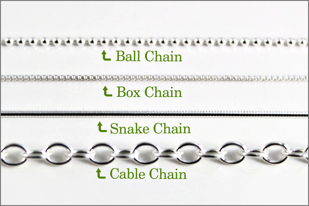 Snake or Ball Chain Necklace Sterling Silver Apple Charm on a Sterling Silver Cable