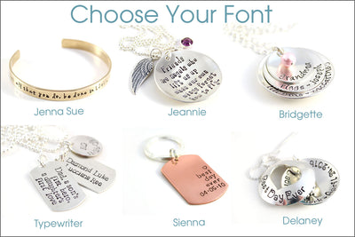 Personalized Silver Name Necklace | Washer Necklace, Key Charm, Many Name Necklace, Hand Stamped Mommy Jewelry
