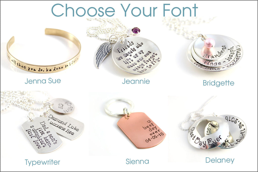 2 tag personalized names necklace sterling silver bronze