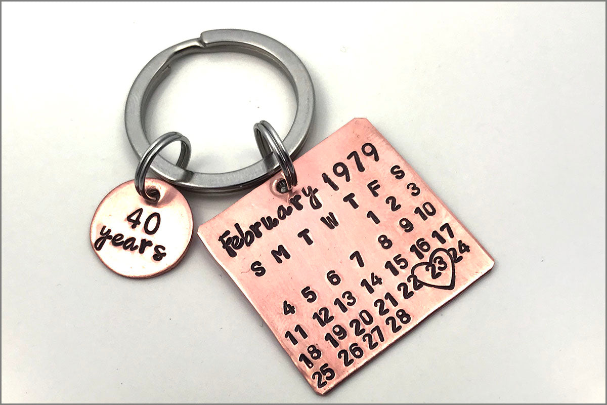 Custom Calendar Keychain | Personalized with Your Special Date