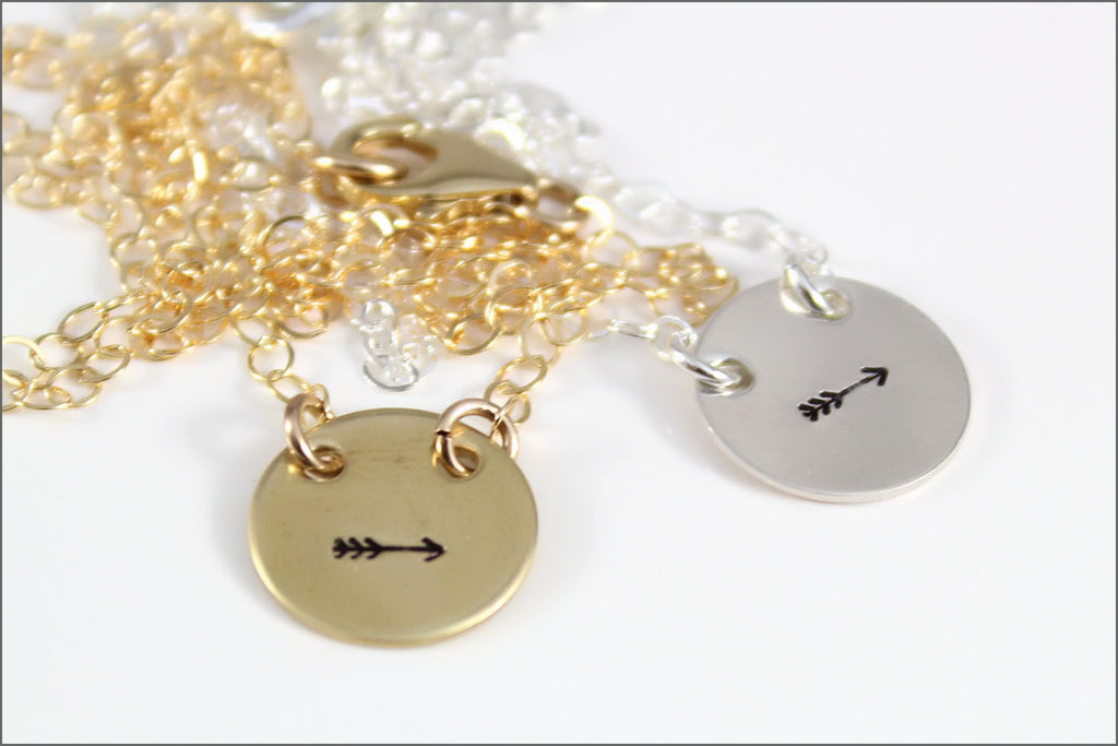 READY TO SHIP // Gold or Silver Follow Your Arrow Necklace | Small ...