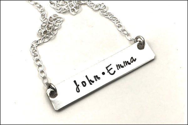 Personalized Two Name Bar Necklace