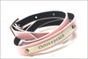 Personalized Leather Wrap Bracelet | Custom Name Bracelet