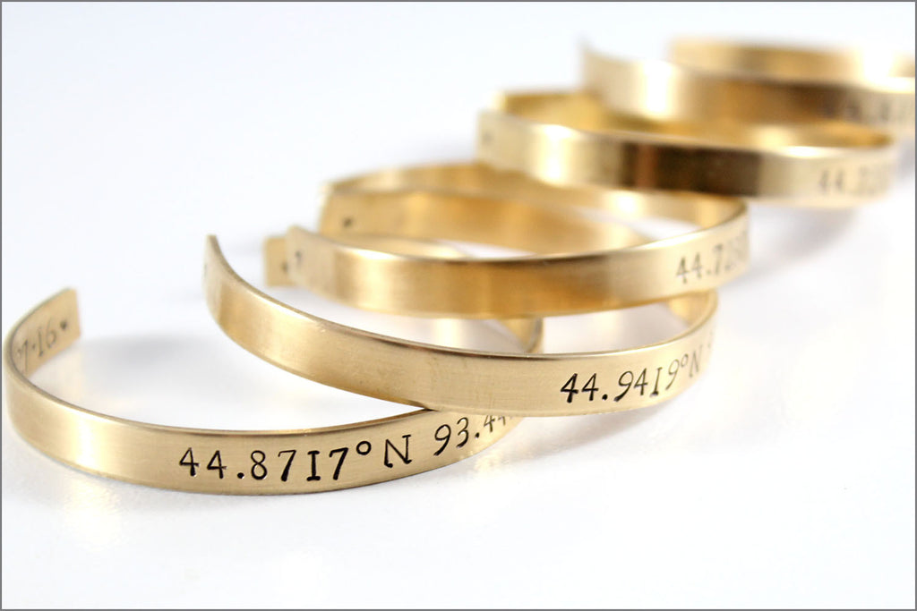 custom coordinates bracelet latitude longitude location gps
