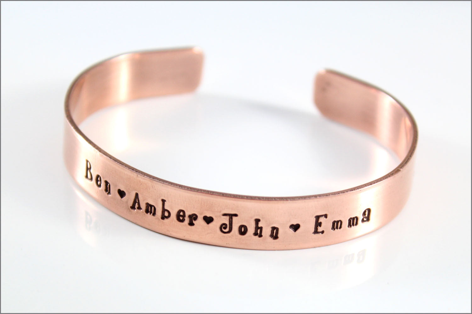 Personalized Name Cuff Bracelet | Custom Copper Jewelry