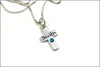 Cross Birthstone Necklace with Personalized Name