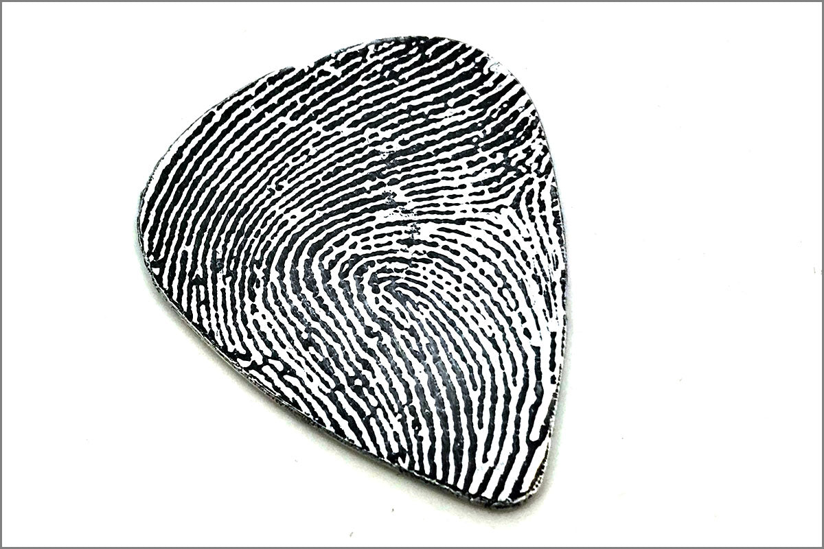 Sterling Silver Fingerprint Guitar Pick