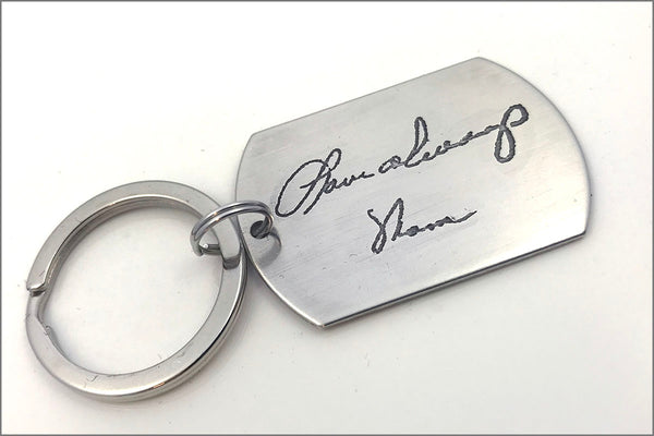 Custom Handwriting Keychain | Signature Keychain