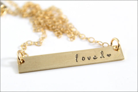 Gold or Silver Custom Bar Necklace