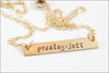 Personalized Bar Name Necklace | Gold Filled, Sterling Silver, Rose Gold