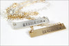 READY TO SHIP // Gold or Silver Bar Necklace | Grandma Necklace, Last Minute Gifts for Grandma, Gold Bar Necklace, Silver Bar Necklace