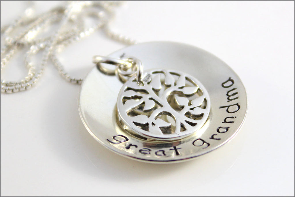 great grandma necklace sterling silver tree of life charm gifts